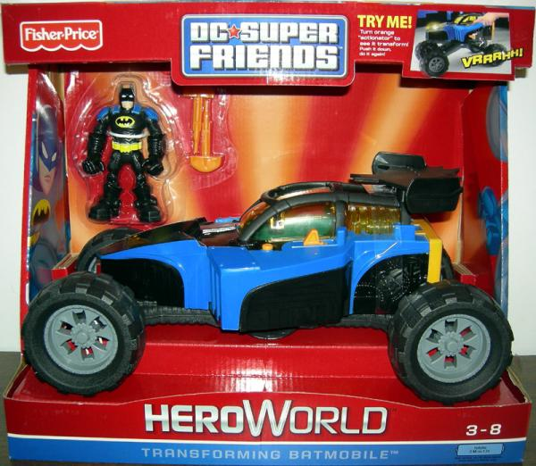 Transforming Batmobile DC Super Friends HeroWorld action figure vehicle