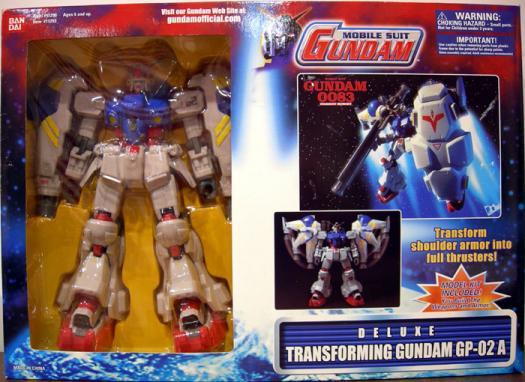Transforming Gundam GP-02 A Deluxe Mobile Suit action figure