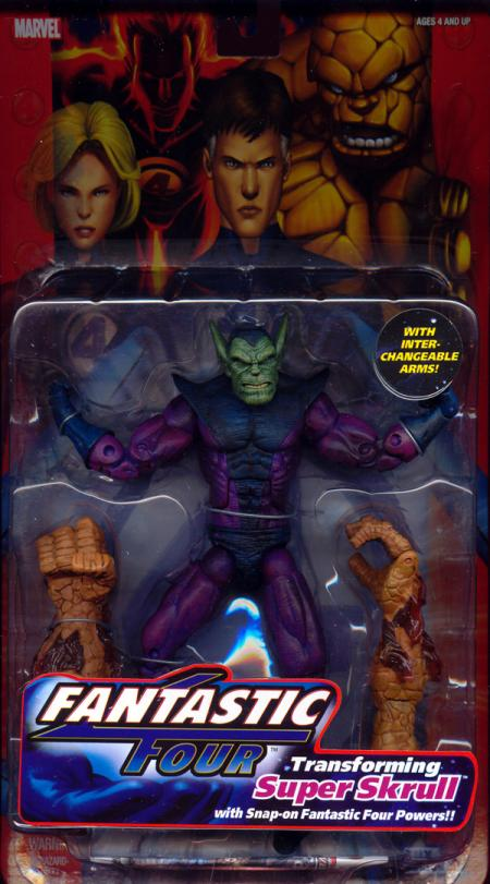 Transforming Super Skrull Fantastic Four 4 action figure