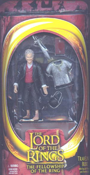 Traveling Bilbo Lord Rings Fellowship Ring Red Box action figure