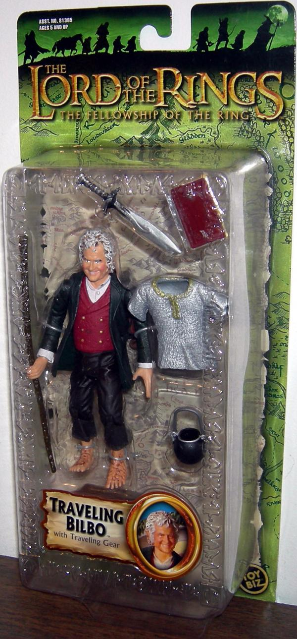 Traveling Bilbo Lord Rings Fellowship Ring Trilogy action figure