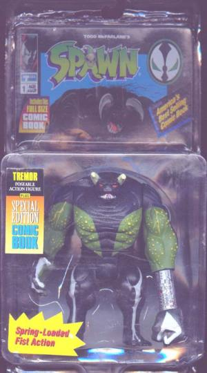 Tremor Repaint Comic Card Spawn Series 1 action figure