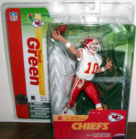 Trent Green White Jersey Kansas City Chiefs SportsPicks Series 10 action figure