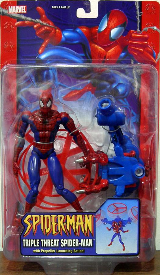 Triple Threat Spider-Man Action Figure Classic Toy Biz