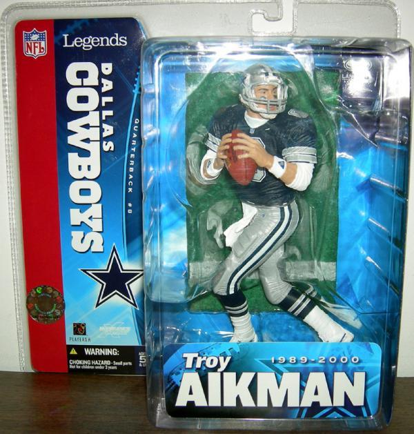 Troy Aikman SportsPicks Legends Blue Jersey action figure
