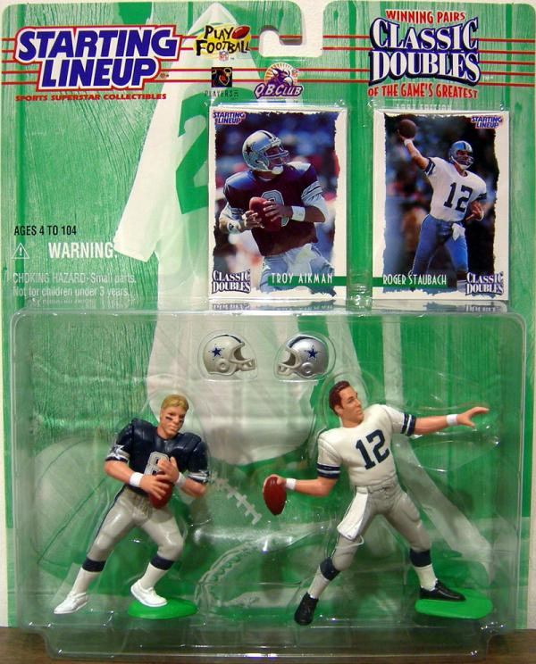 Troy Aikman Roger Staubach Starting Lineup action figures