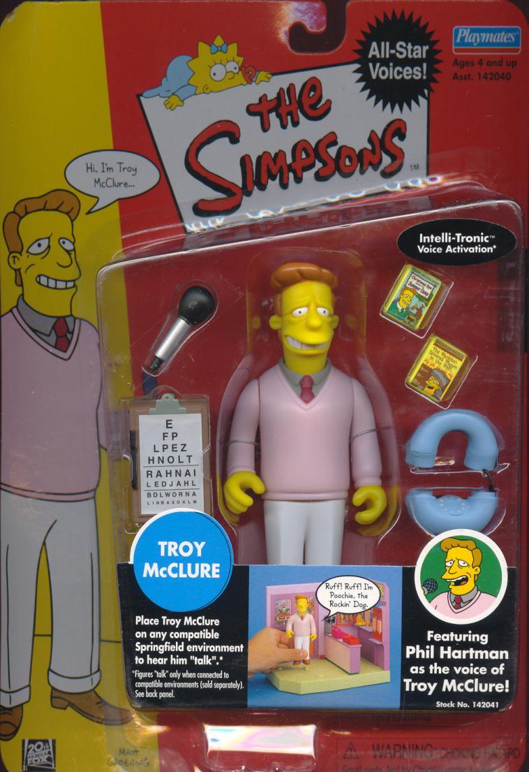 Troy McClure Simpsons Intelli-Tronic Voice Activation action figure