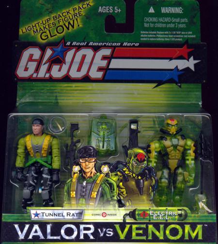 Tunnel Rat Electric EEL GI Joe vs Venom action figures