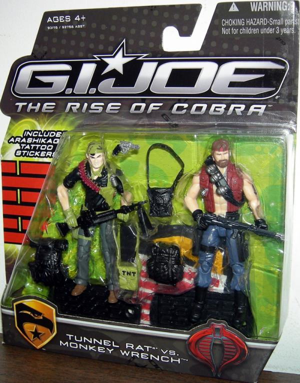 Tunnel Rat vs Monkey Wrench GI Joe Rise Cobra action figures