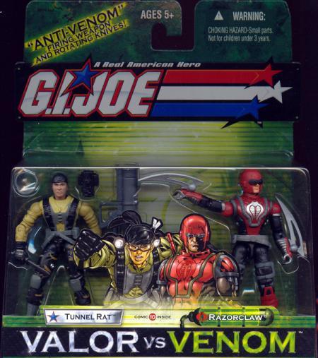Tunnel Rat Razorclaw GI Joe vs Venom action figures