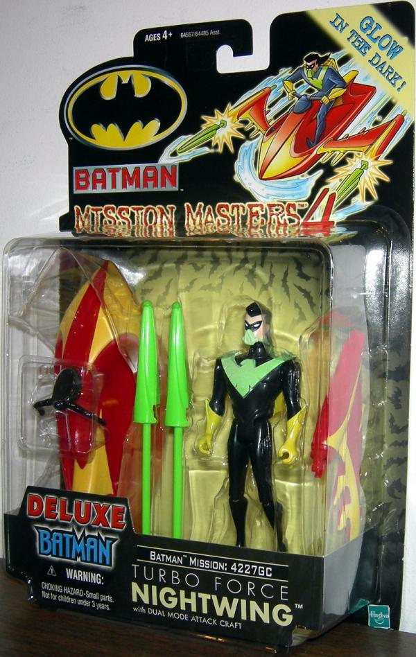 Turbo Force Nightwing Deluxe Batman Mission Masters 4 action figure