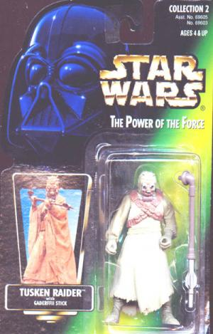 Tusken Raider Green Card Closed Hand Star Wars action figure
