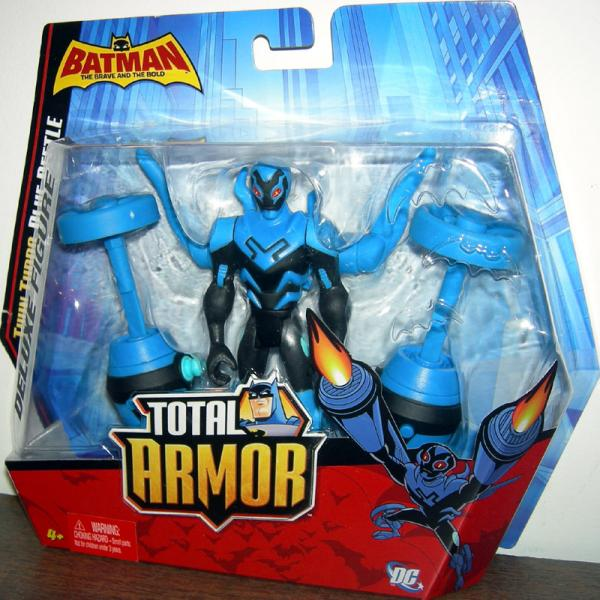 Twin Turbo Blue Beetle Figure Total Armor Batman Brave Bold