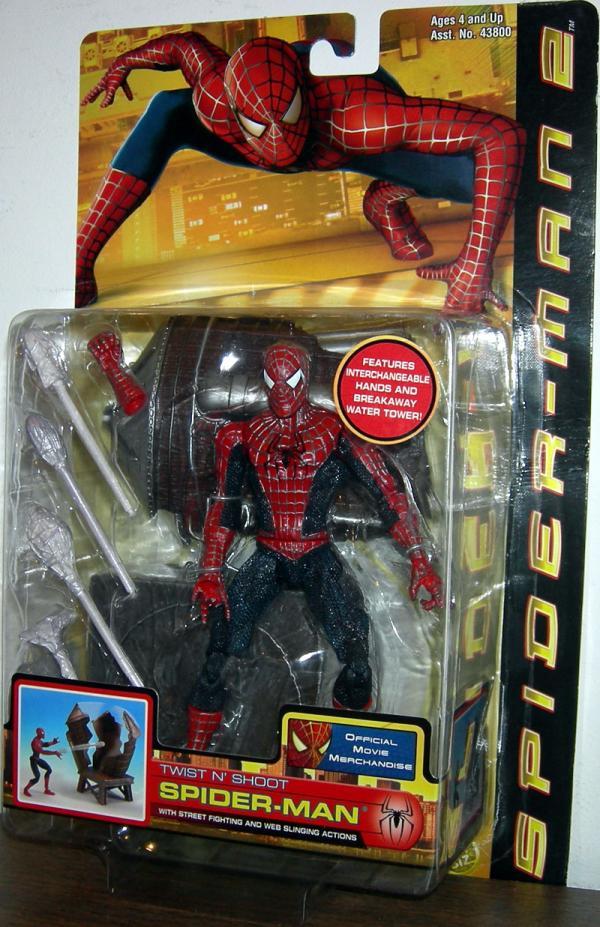 Twist N Shoot Spider-Man 2 Movie Action Figure Toy Biz