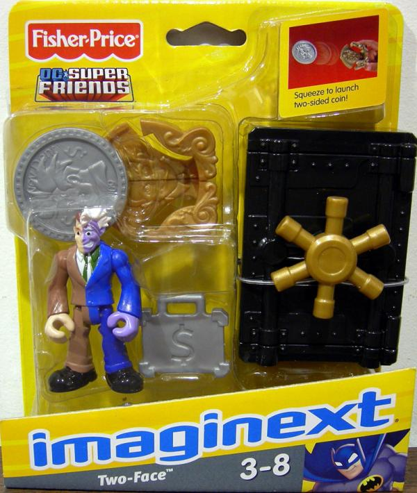 Two-Face Action Figure and Safe DC Super Friends Imaginext