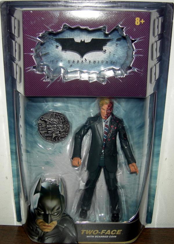 Two-Face Scarred Coin Batman Dark Knight Movie Masters action figure