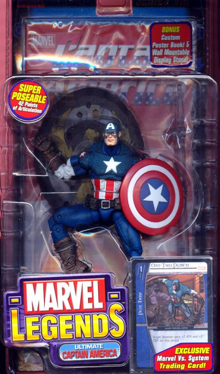 Ultimate Captain America Marvel Legends Series VIII All Blue Legs figure