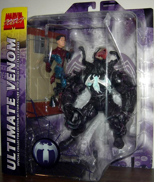 Ultimate Venom Marvel Select Chest Logo action figure