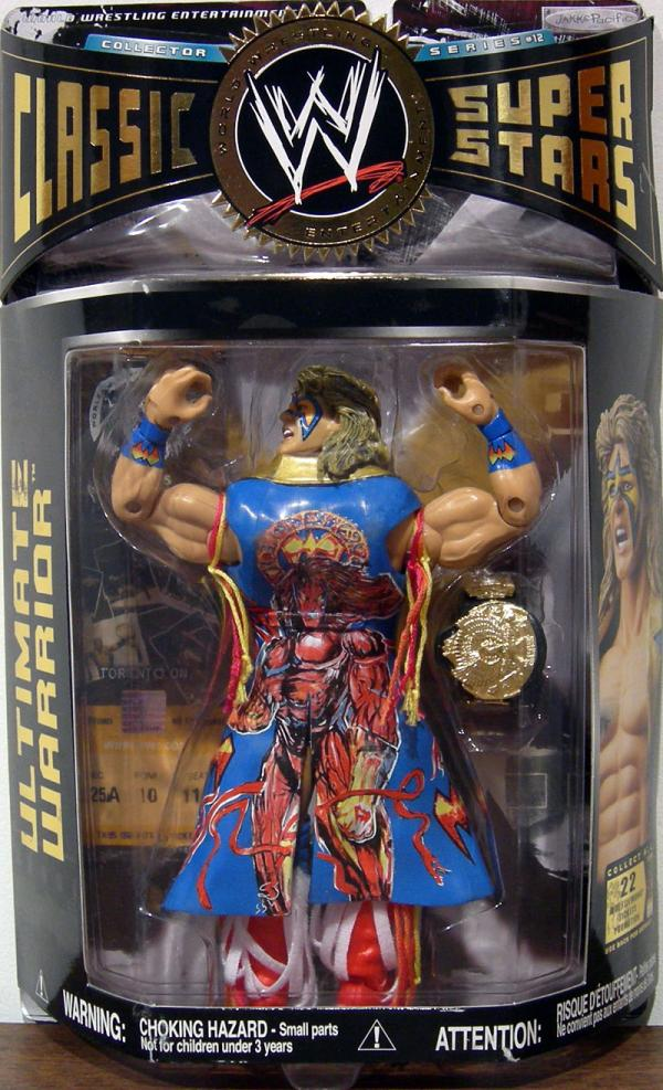 Ultimate Warrior Action Figure WWE Classic Super Stars Variant Series 12