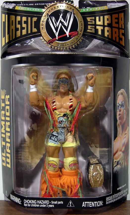 Ultimate Warrior Figure WWE Classic Super Stars Series 14