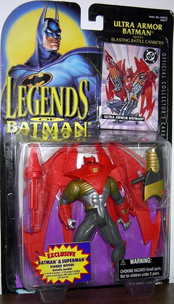 Ultra Armor Batman Legends Blasting Battle Cannon action figure