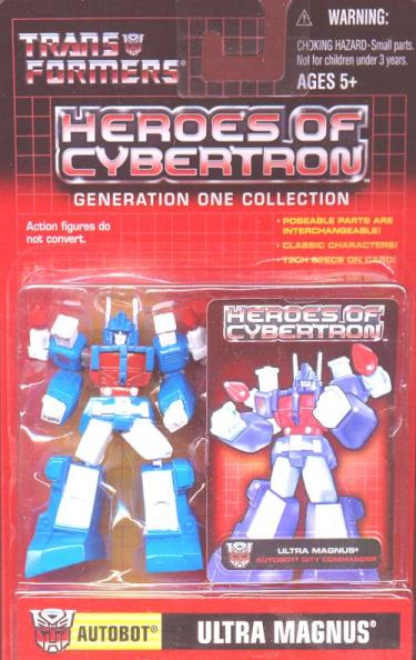 Ultra Magnus Transformers Heroes Cybertron Generation One figure