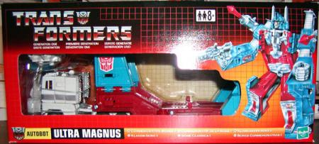 Ultra Magnus Commemorative Series I Transformers UK box action figure