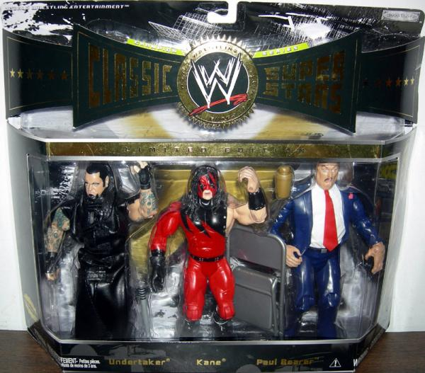 Undertaker Kane Paul Bearer WWE Classic Super Stars action figure
