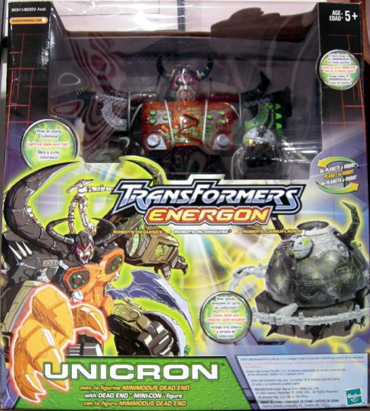 Unicron Repaint Dead End Mini-Con Transformers Energon action figures
