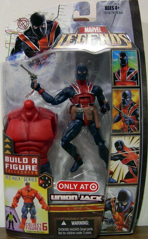 Union Jack Marvel Legends Red Hulk Series action figure