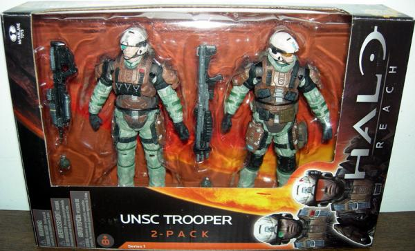 UNSC Trooper 2-Pack Figures Halo Reach McFarlane Toys