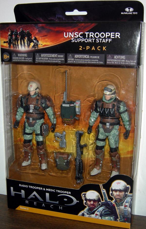 UNSC Trooper Support Staff 2-Pack Halo Reach action figures