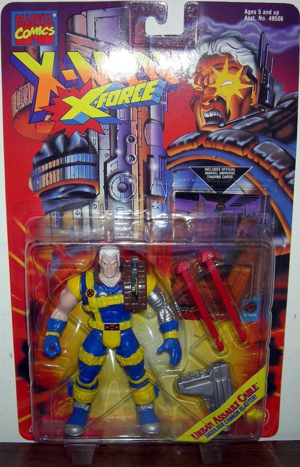 Urban Assault Cable Figure X-Men X-Force Toy Biz