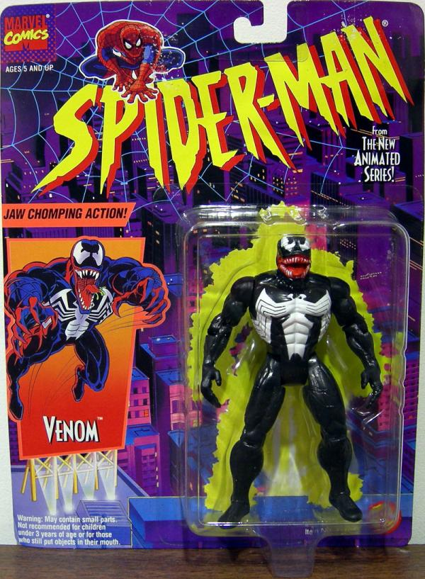 Venom Spider-Man Animated Action Figure Jaw Chomping Action