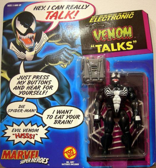 Electronic Venom Talks Spider-Man action figure