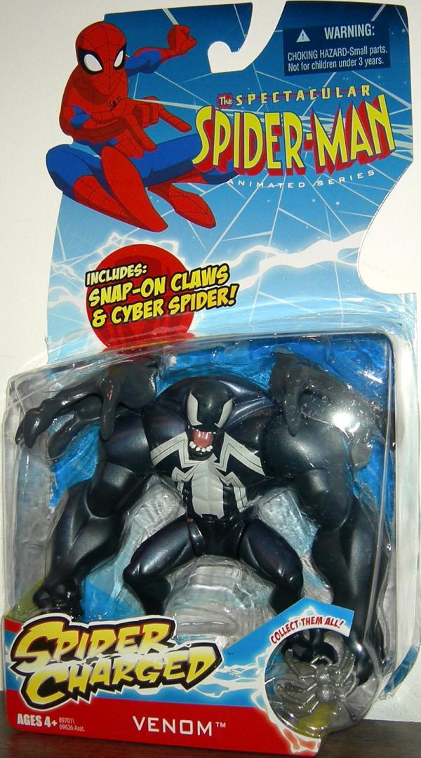 Venom Spectacular Spider-Man Animated Series Spider Charged figure