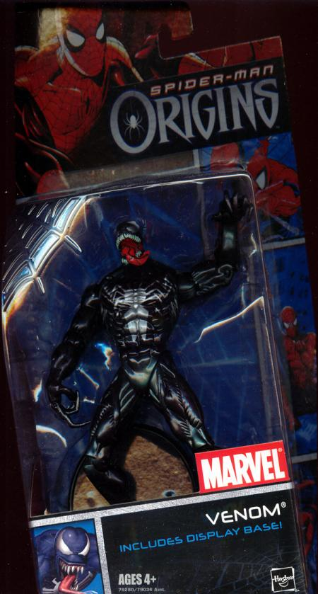 Venom Spider-Man Origins Includes Display Base action figure