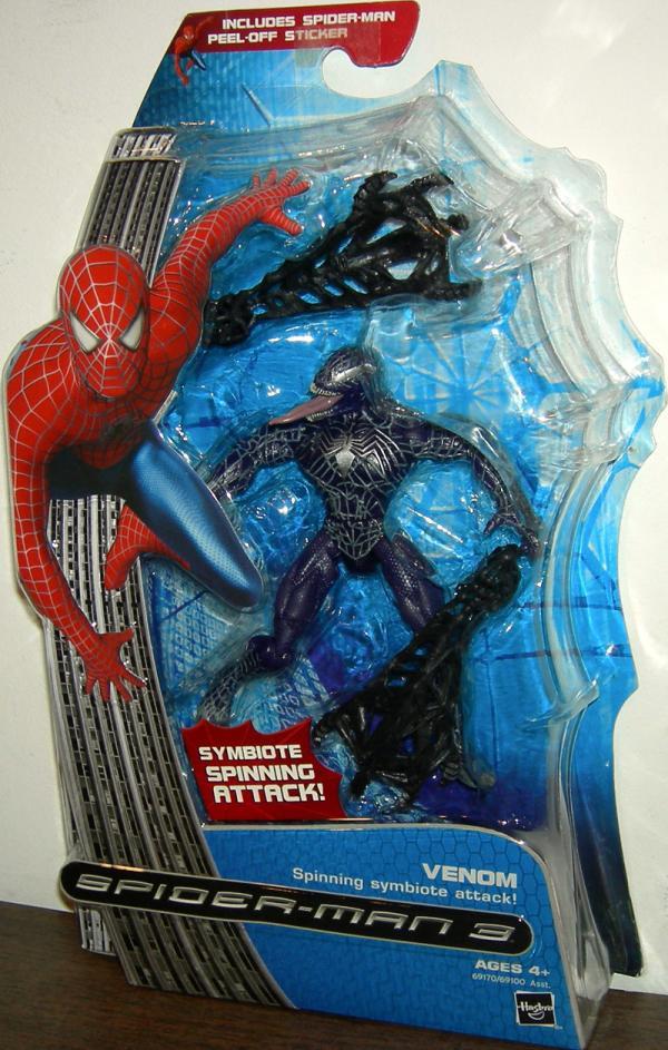Venom Spinning Symbiote Attack Figure Spider-Man