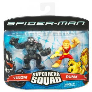 Venom Puma Figures Marvel Super Hero Squad Hasbro