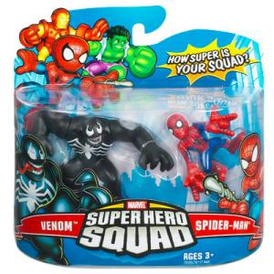 Venom Spider-Man Marvel Super Hero Squad action figures