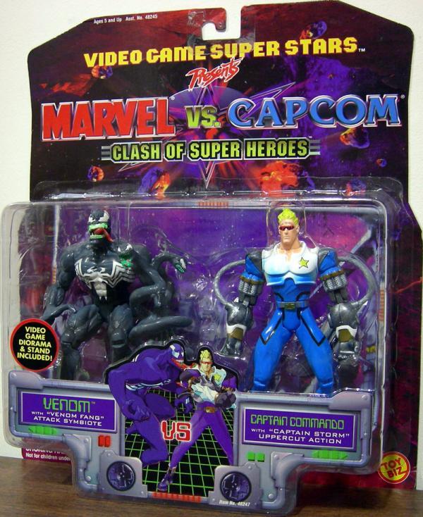 Venom vs Captain Commando Marvel Capcom action figures