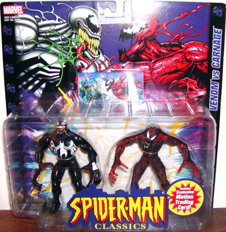 Venom vs Carnage Spider-Man Classics action figures