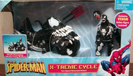 Venom Figure X-Treme Cycle Vehicle Amazing Spider-Man