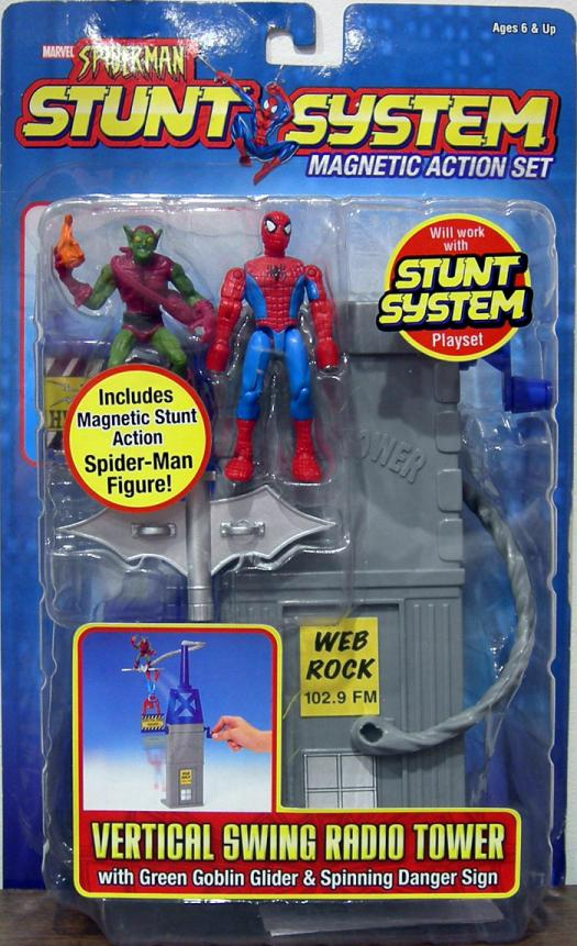 Vertical Swing Radio Tower Spider-Man Stunt System action figures
