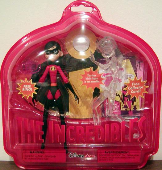 Violet Clear Invisible Ring Incredibles action figure