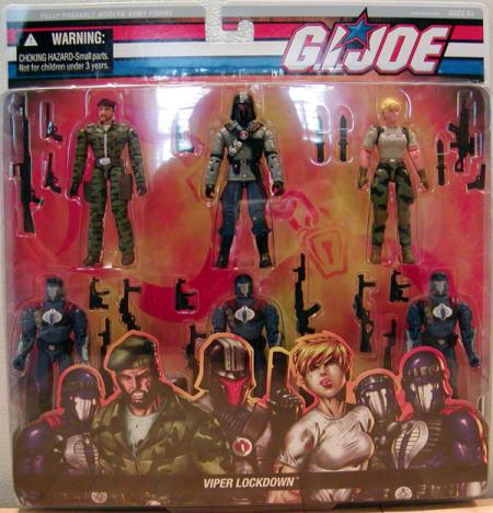Viper Lockdown 6-Pack GI Joe action figures