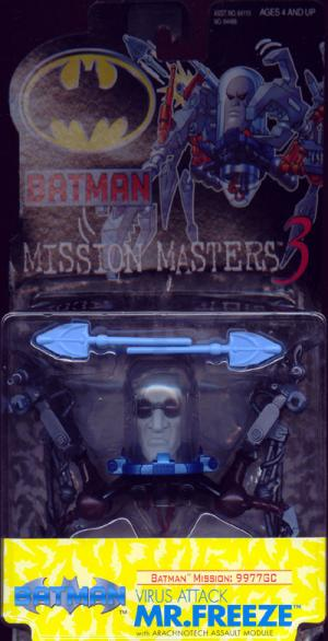 Virus Attack Mr Freeze Batman Mission Masters 3 action figure