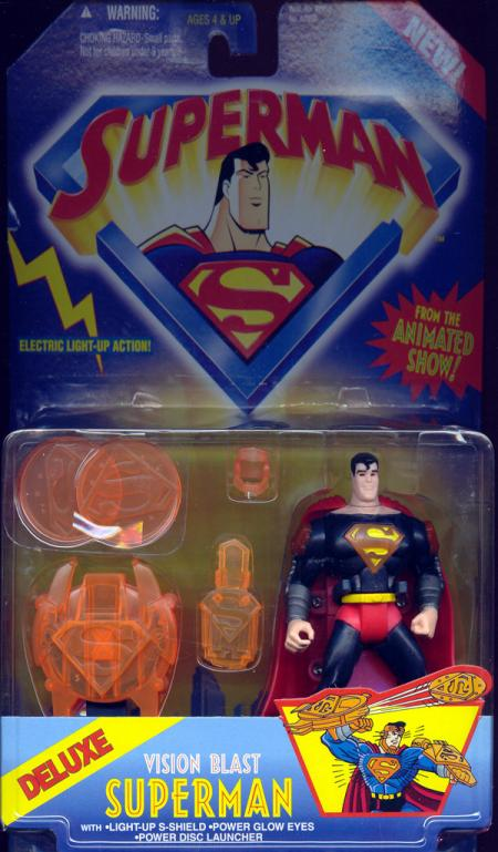 Vision Blast Superman Deluxe Animated Series action figure