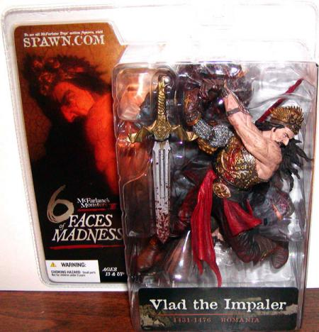 Vlad Impaler Figure McFarlanes Monsters III 6 Faces Madness