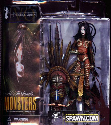 Voodoo Queen Bloody Packaging McFarlanes Monsters Spawn action figure